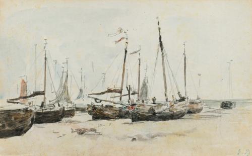 les bateaux by eugène boudin