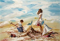beach fun by lorna miller
