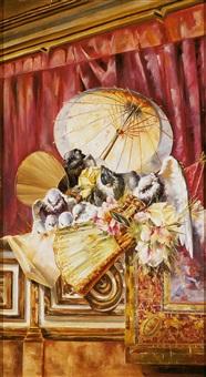 bodegón con palomas y flores by horacio lengo y martinez