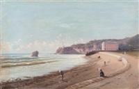 la plage de biarritz by alfred godchaux