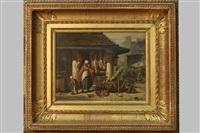 scène de marché by charles hoguet
