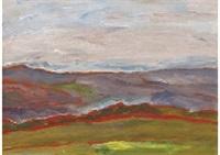 distant view from shinshu mochizuki highlands by takeo yamaguchi