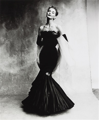rochas mermaid dress b lisa fonssagrives penn paris by irving penn
