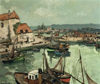 le vieux bassin d'honfleur by fernand herbo