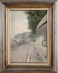 quai de paris by anatole eugène hillairet
