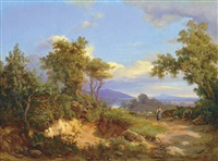 landscape in italy by karoly marko the younger