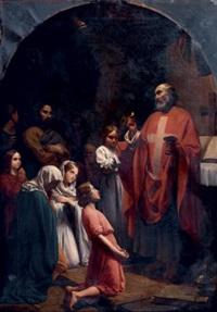 la communion by jean-baptiste auguste leloir