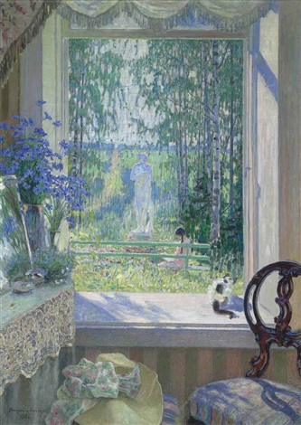open window onto a garden by nikolai petrovich bogdanov belsky