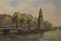 dutch canal scene in summer by hendrik cornelis kranenburg