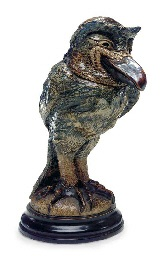 a glazed stoneware bird jar, 1890 by martin brothers
