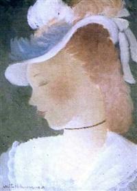 jeune fille au chapeau by alice hohermann