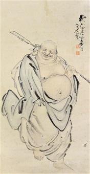 佛像 镜片 纸本 by li geng