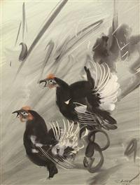 roosters by salih acar