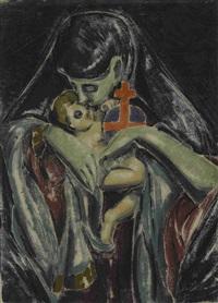grüne madonna by moritz (moriz) melzer