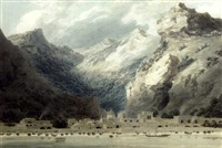 cetara, gulf of salerno, italy by john robert cozens