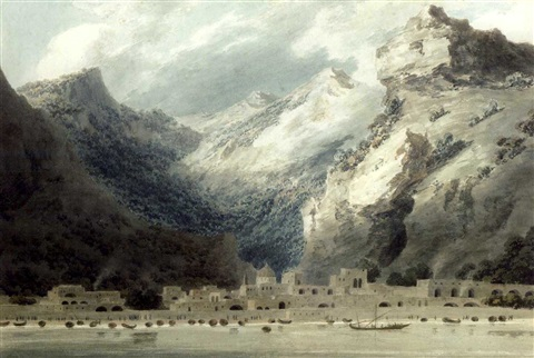 cetara gulf of salerno italy by john robert cozens