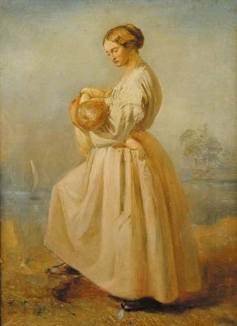 maternità by wilhelm maria hubertus leibl