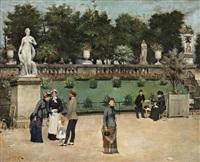 promenade au jardin du luxembourg by edmond gotorbe