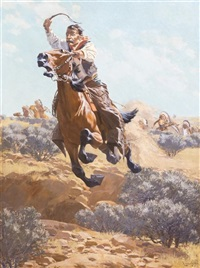 on the warpath by fernand harvey lungren