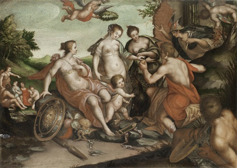 the judgment of paris by hans von aachen