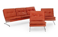 soffa och fåtöljer (set of 3) by poul norreklit