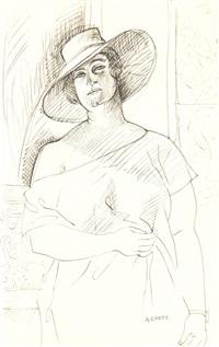 femme au chapeau by andré lhote