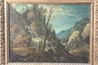 cascade dans un paysage flamand by alexander keirincx