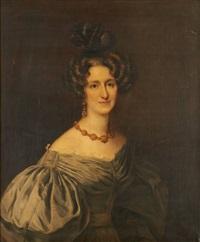 portrait d'élégante by gustave (egidius karel g.) wappers