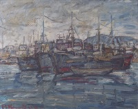 ships in drapetsona, piraeus by michalis kandylis