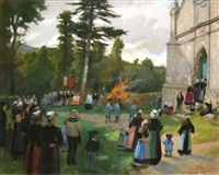 breton march by norman garstin