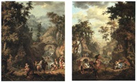 mountainous landscapes by giovanni battista innocenzo colombo