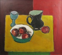 still life with fruit by ion pacea