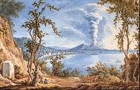 l'eruzione del vesuvio del 22 ottobre 1822 vista da posilippo by simone pomardi