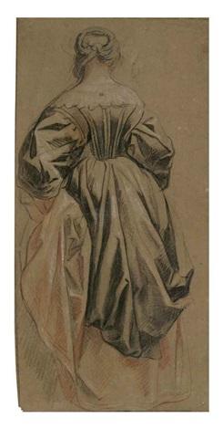 femme debout vue de dos by jacob jordaens
