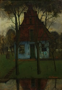 the blue house by the water by eduard karsen