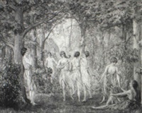 diana and nymphs dancing by arthur turnbull hill
