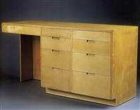 custom freestanding desk by richard neutra