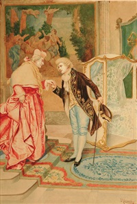 the cardinal and his footman by umberto cacciarelli