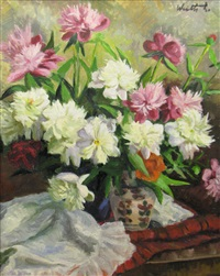 pot with peonies by lidia agricola weifl