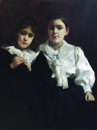 portrait de jeunes enfants by paul alexandre alfred leroy