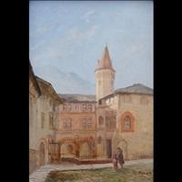 priorato di sant'orso, aosta, xv secolo by leonardo roda