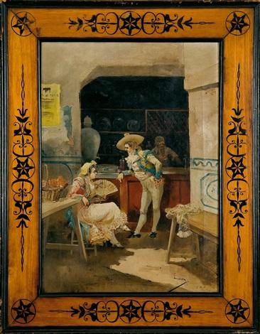 pelando la pava en la taberna by eugenio lucas villamil