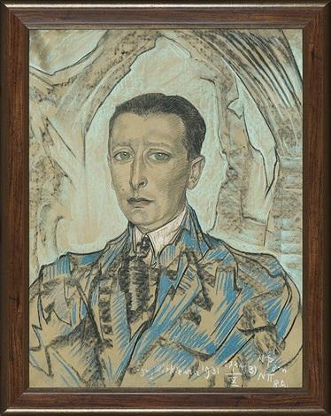 portrait of henryk kamm by stanislaw ignacy witkiewicz