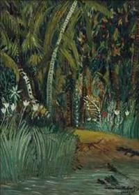 tigre et crocodile by alphonse léon quizet