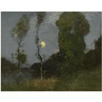 moonlight over bardowie loch by robert macaulay stevenson