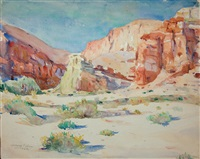 desert morning, california (+ 4 others; 5 works) by lawrence nelson wilbur