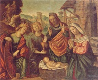 the nativity with ss. catherine and john the evangelist by girolamo da santacroce