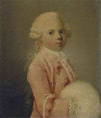 portrait (de louis-françois-xavier duc de bourgogne ?) à sept ans by louis richard françois dupont