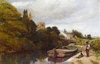 harborne canal scene by charles thomas burt