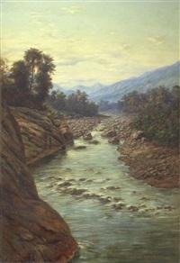 el rio capilla del monte. prov. de cordoba by adolf methfessel